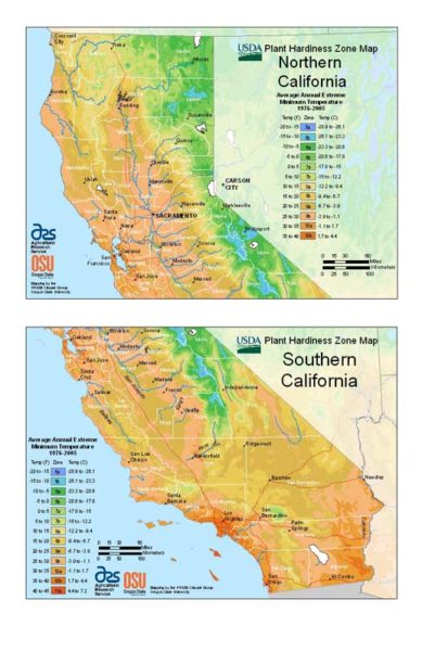 California Grow Zone Map