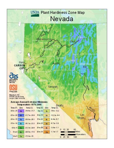 Nevada Grow Zone Map