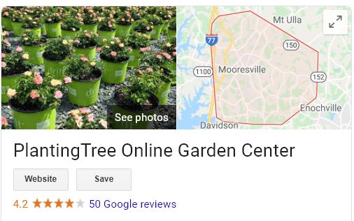 Planting tree Google reviews